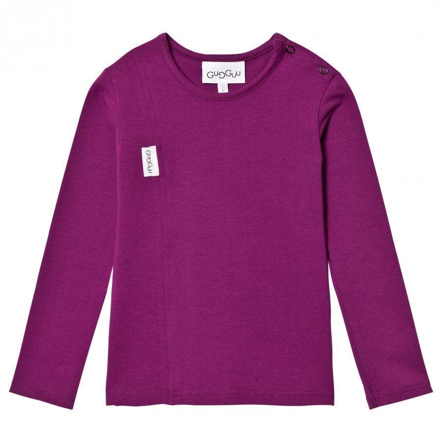 Gugguu Unisex Tricot Shirt Grape Juice Pitkähihainen T-Paita