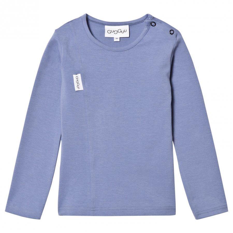 Gugguu Unisex Tricot Shirt Ice Blue Pitkähihainen T-Paita