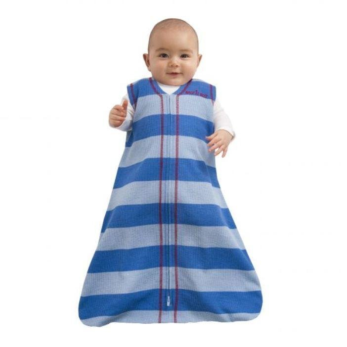 HALO® SleepSack® Puuvilla Blue/Light Blue Stripe (Small)