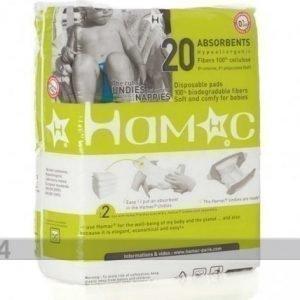 Hamac Paris Kertakäyttö Vaippasisukset M/L Kokoisiin Housuihin 7-18 Kg 20 Kpl