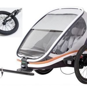 Hamax Pyöräilyvaunu + Jogger kit Outback Harmaa/Oranssi/Musta