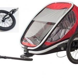 Hamax Pyöräilyvaunu + Jogger kit Outback Punainen/Harmaa/Musta