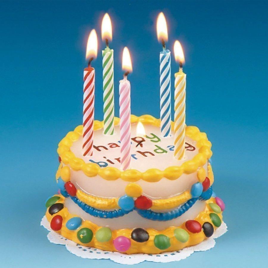 Happy People Kynttilä Syntymäpäiväkakku