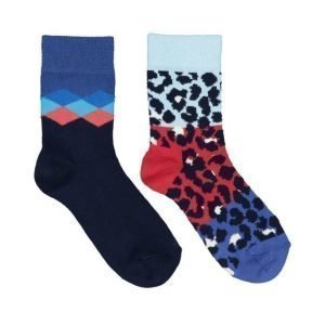 Happy Socks Block Leopard Sukat 2 Pack