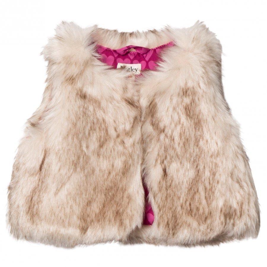 Hatley Beige Faux Fur Vest Toppaliivi
