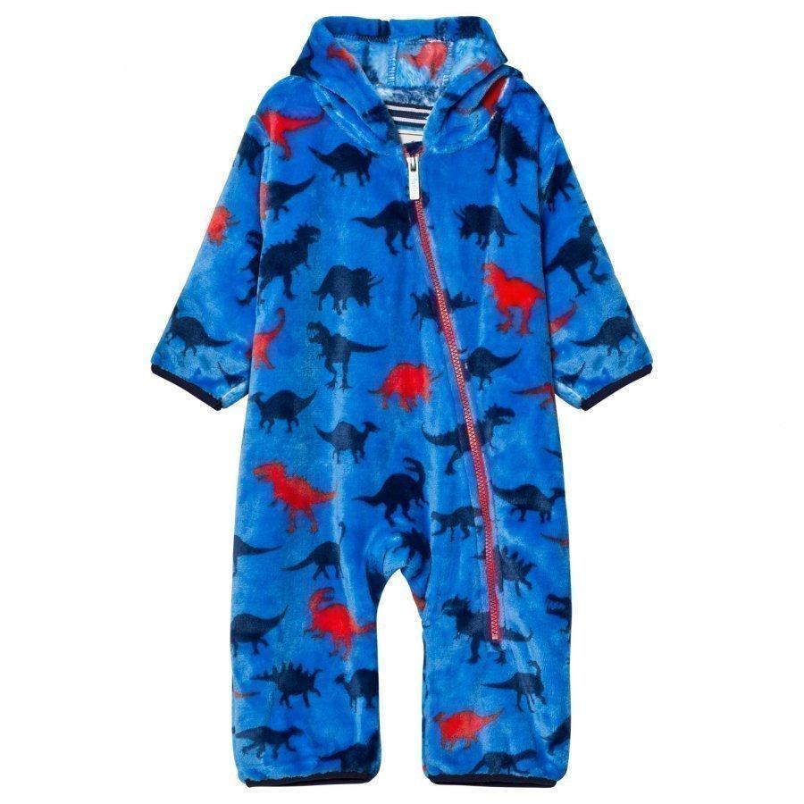 Hatley Blue Dino Print Fleece Onesie Vauvan Haalari