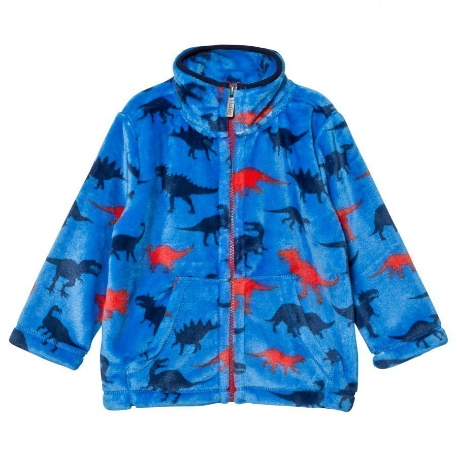 Hatley Blue Dinosaur Print Fleece Sweater Fleece Takki