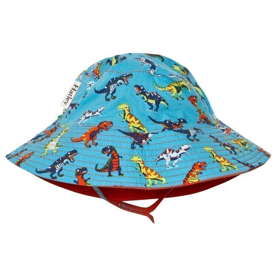 Hatley Blue Dinosaur Print Sun Hat Aurinkohattu