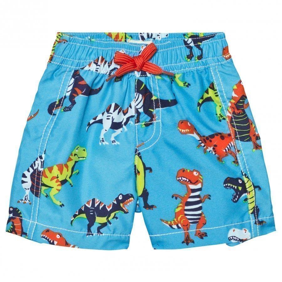 Hatley Blue Dinosaur Print Swim Shorts Uimahousut