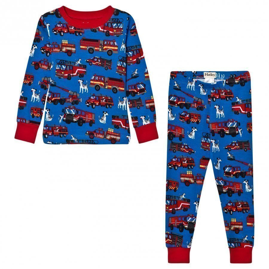 Hatley Blue Fire Truck Print Pyjamas Yöpuku