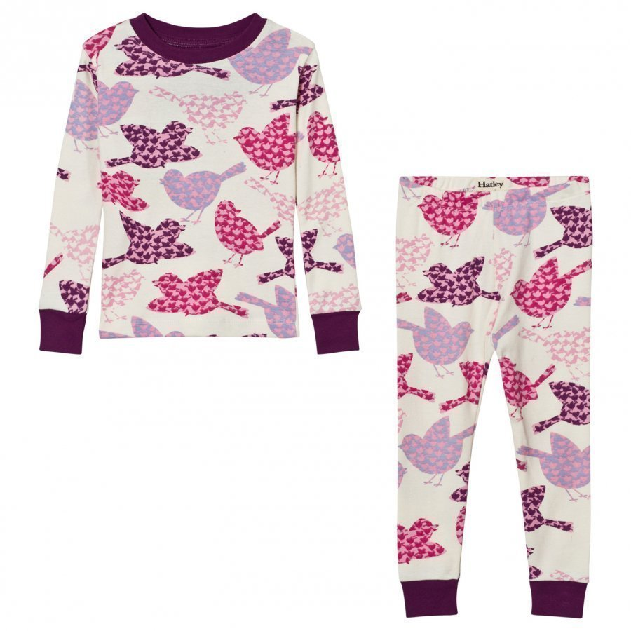 Hatley Cream Birds Print Pyjamas Yöpuku