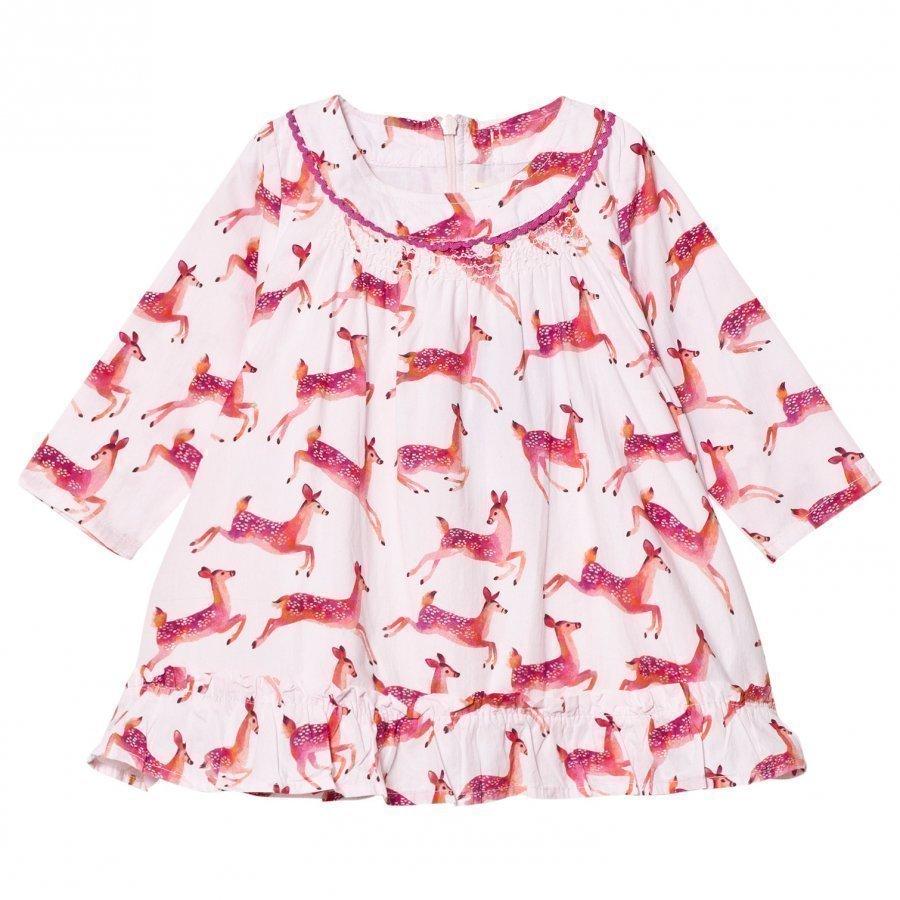 Hatley Cream Deer Print Dress Mekko