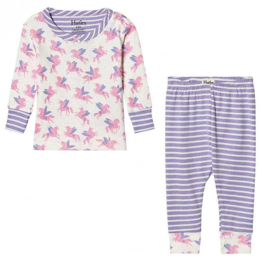 Hatley Cream Unicorn Print Pyjamas Yöpuku