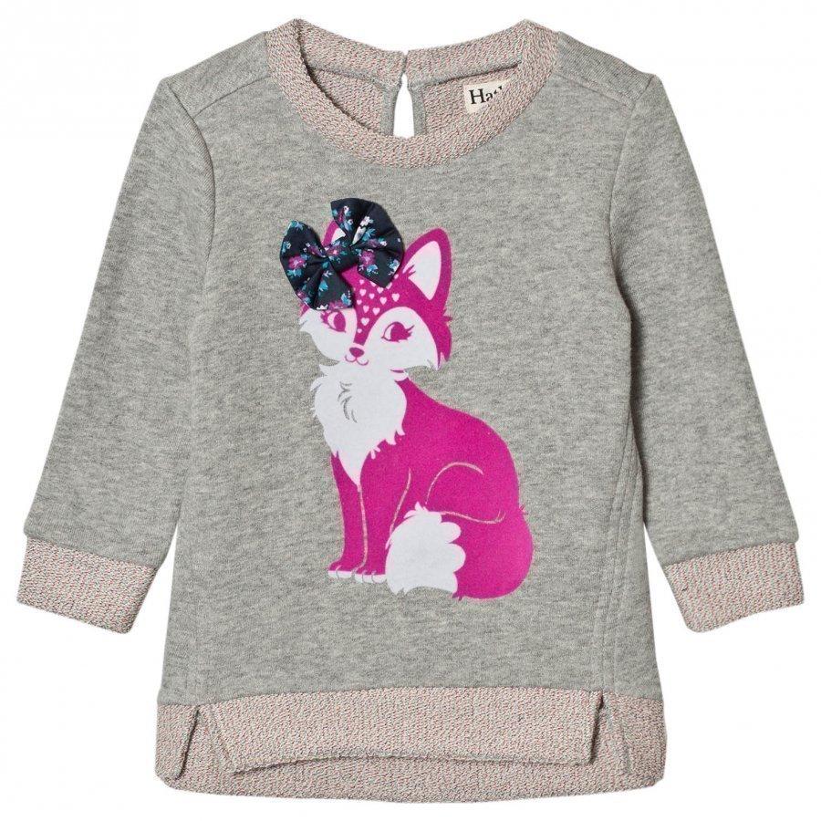 Hatley Grey Fox Print Sweatshirt Oloasun Paita
