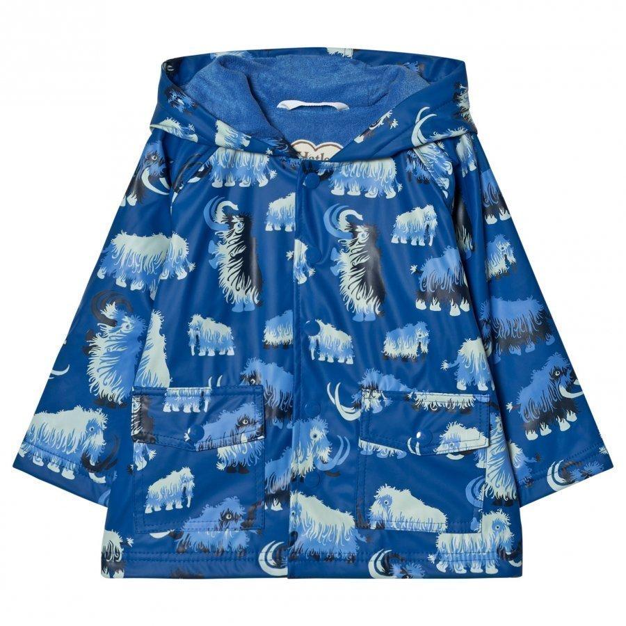 Hatley Mammoth Print Raincoat Blue Sadetakki