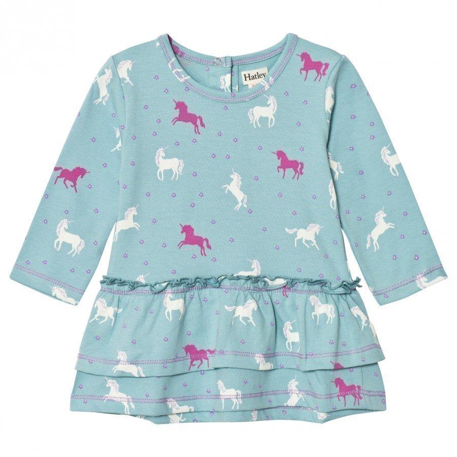 Hatley Mint Horse Layered Dress Mekko