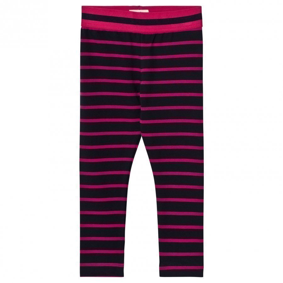 Hatley Navy And Pink Stripe Leggings Legginsit