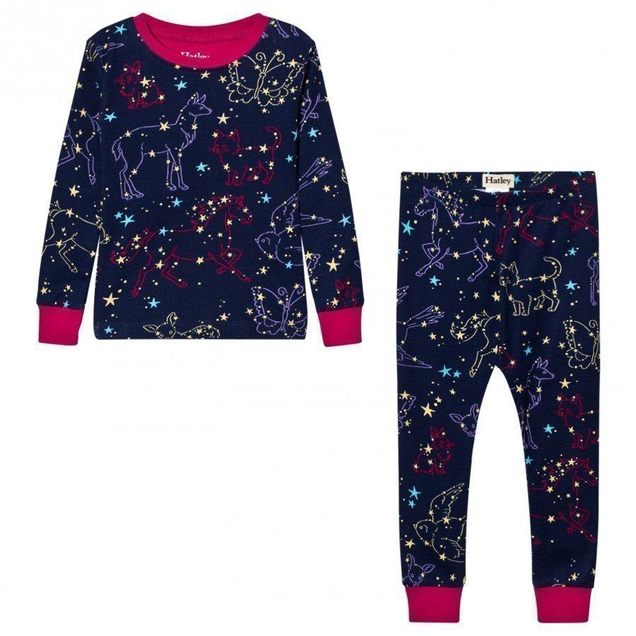 Hatley Navy Animal Stars Print Pyjamas Yöpuku