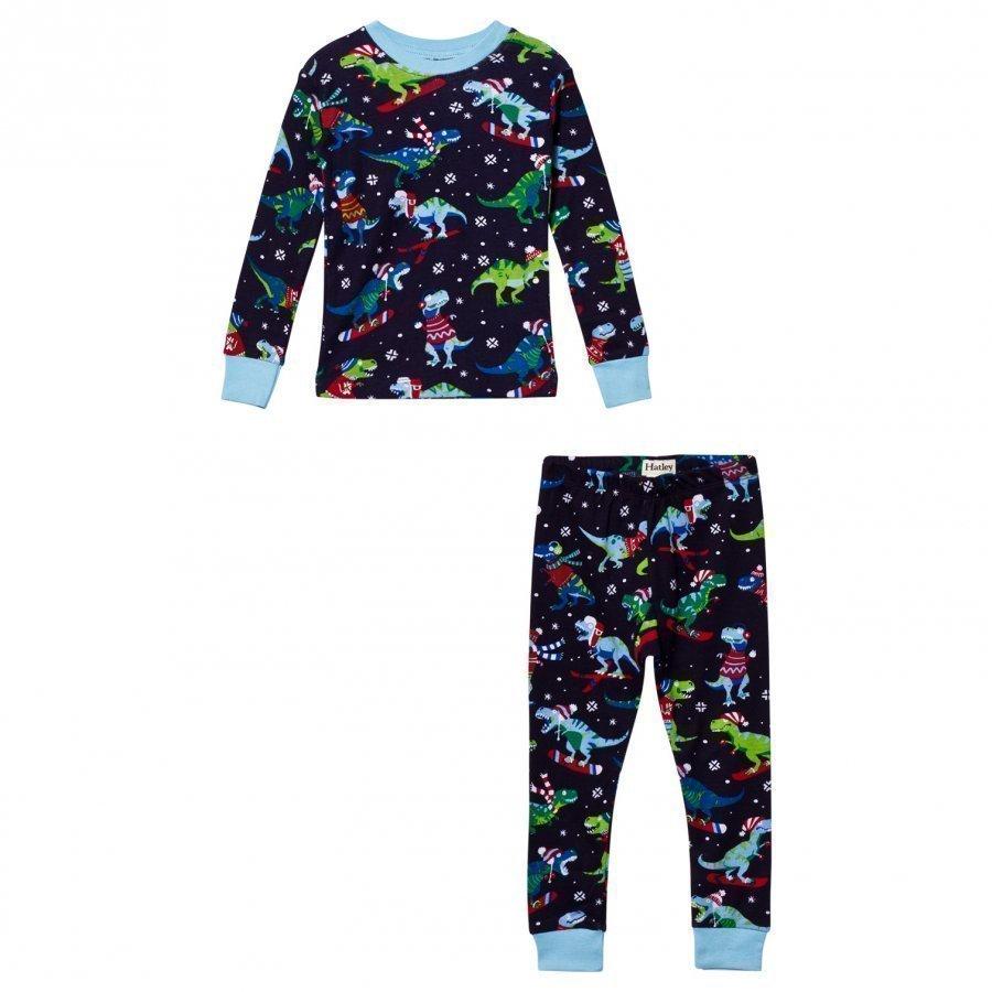 Hatley Navy Christmas Dino Print Pyjamas Yöpuku