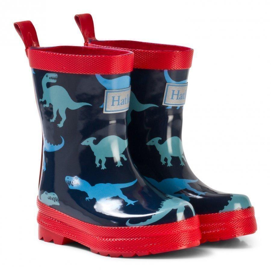 Hatley Navy Dinosaur Classic Rain Boots Kumisaappaat