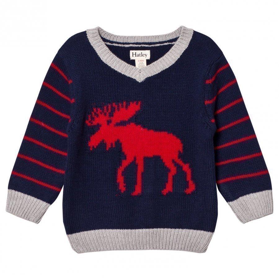 Hatley Navy Moose Sweater Paita