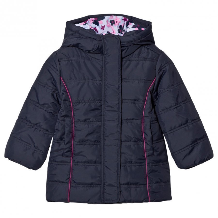 Hatley Navy Quilted Puffer Coat Toppatakki