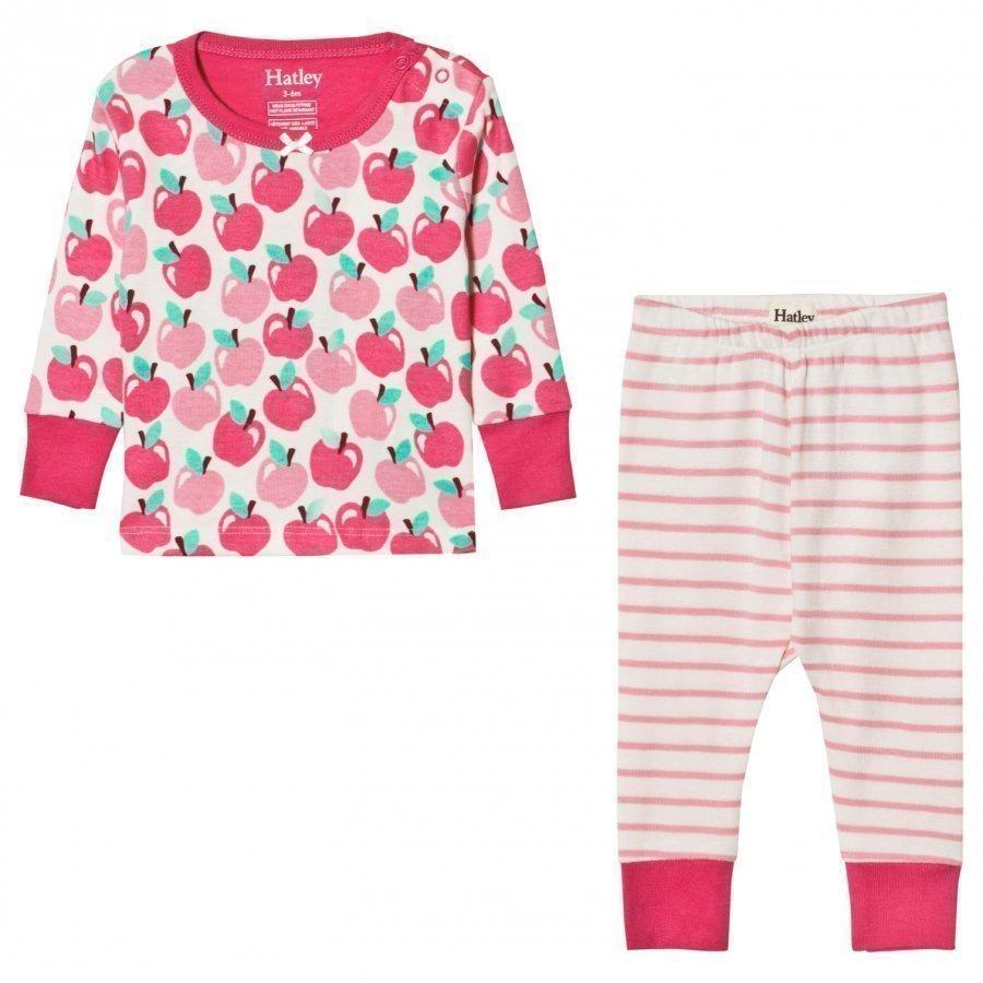 Hatley Pink Apples Print Pyjamas Yöpuku