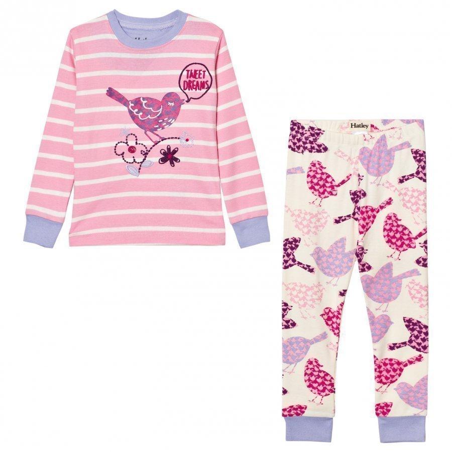 Hatley Pink Bird Print Pyjamas Yöpuku