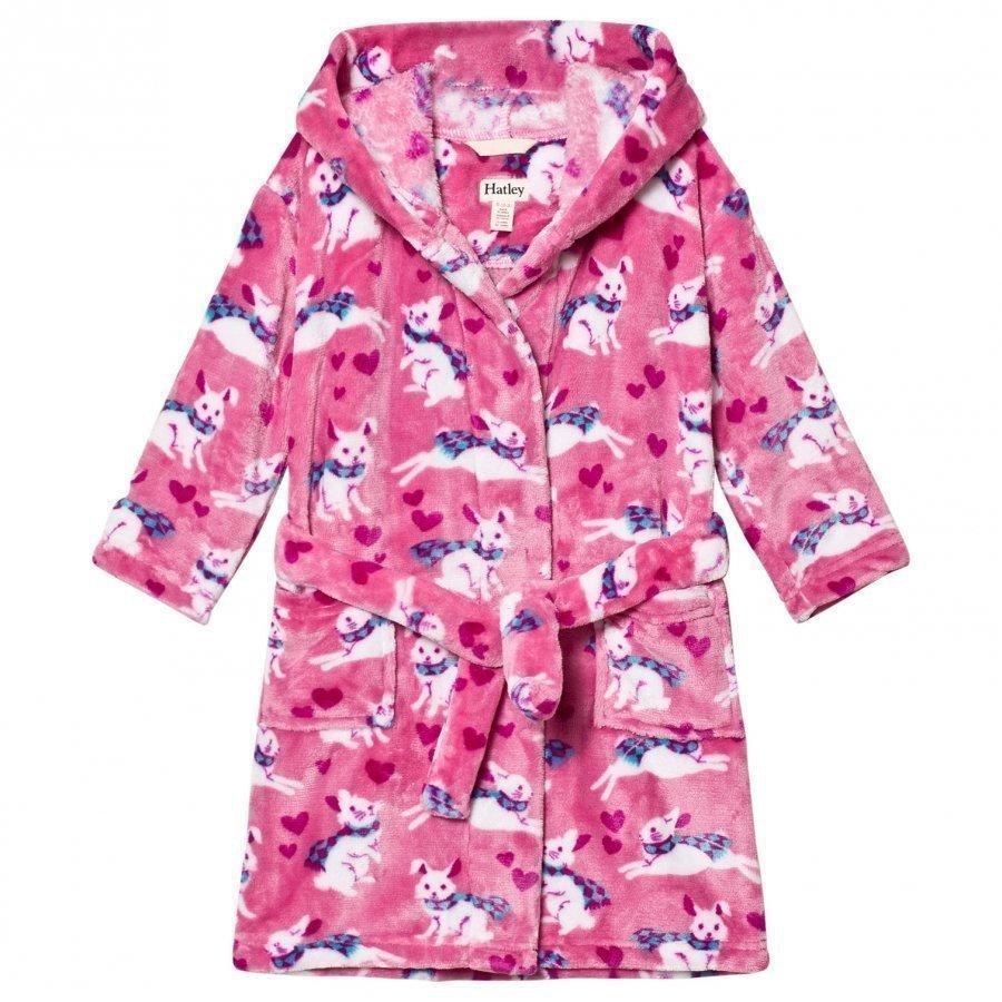 Hatley Pink Bunnies Print Robe Kylpytakki