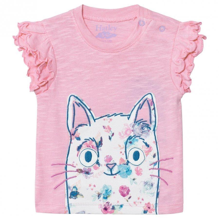 Hatley Pink Cat Tee T-Paita