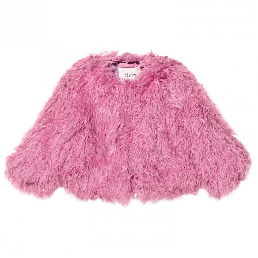 Hatley Pink Faux Fur Coat Turkis