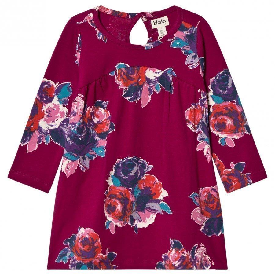 Hatley Pink Floral Jersey Dress Mekko