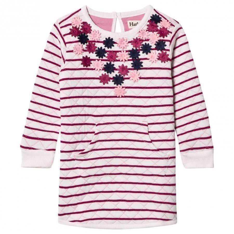 Hatley Pink Flower Applique Quilted Dress Pitkähihainen T-Paita