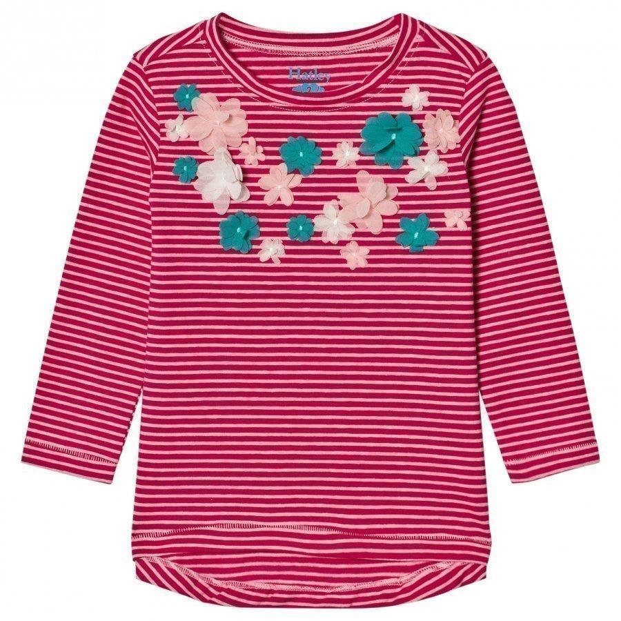 Hatley Pink Flower Applique Tee Pitkähihainen T-Paita