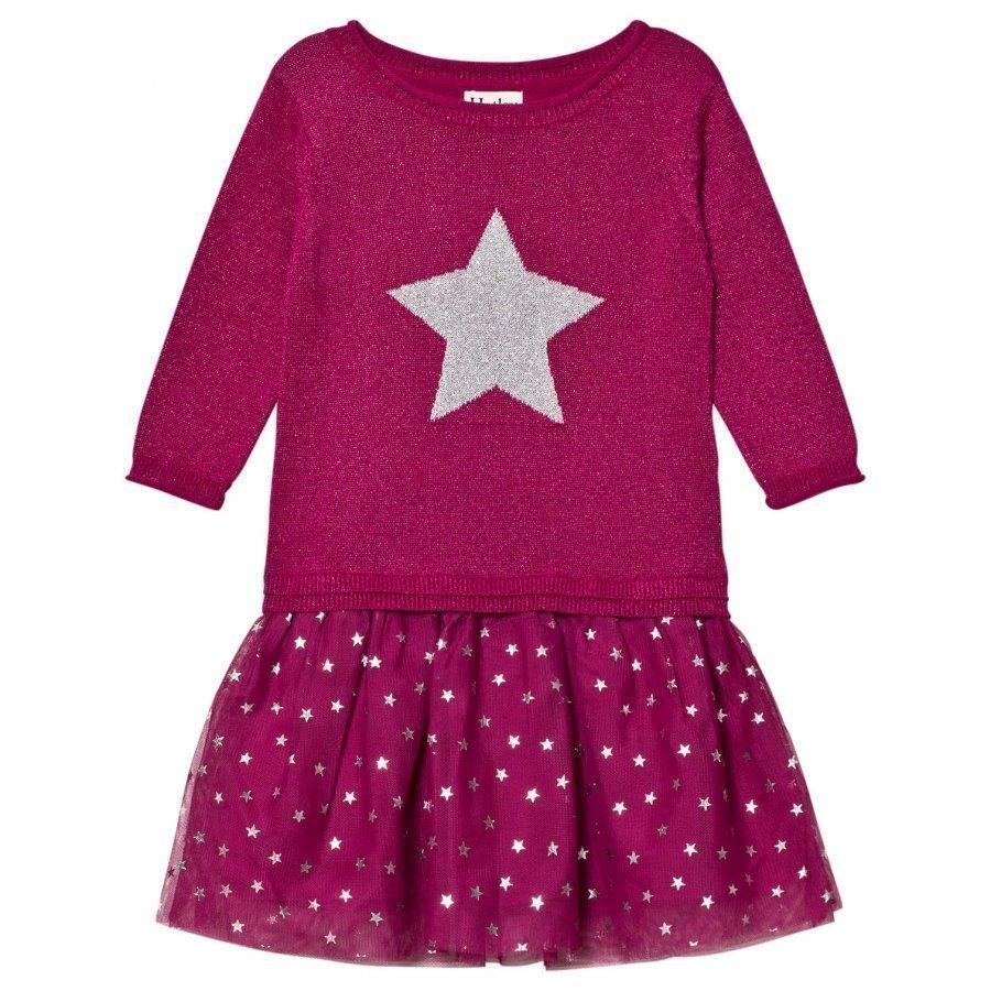 Hatley Pink Glitter Dress Mekko