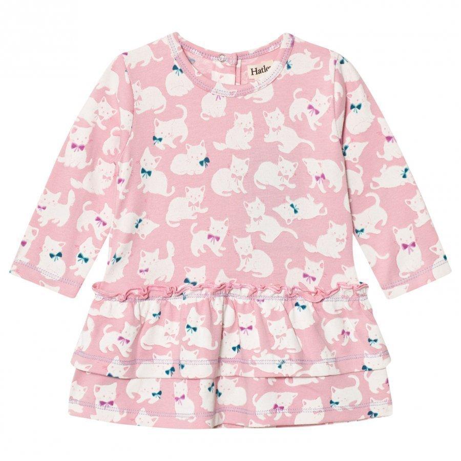 Hatley Pink Kittens Layered Dress Mekko