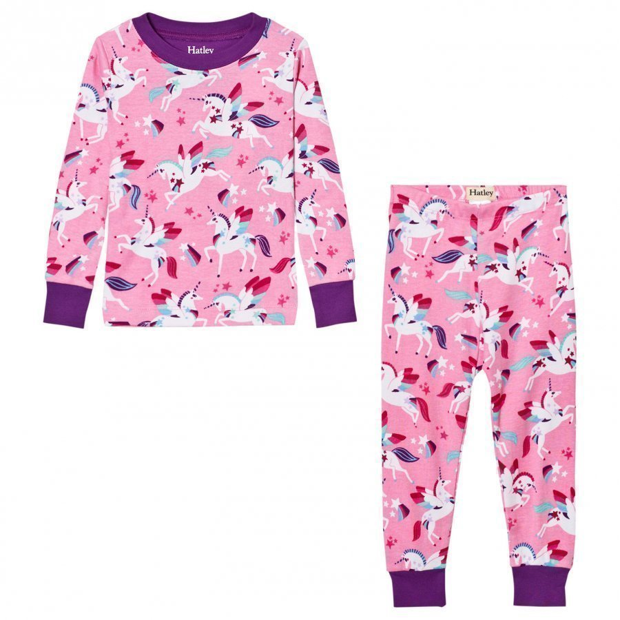 Hatley Pink Unicorn All Over Print Pyjamas Yöpuku