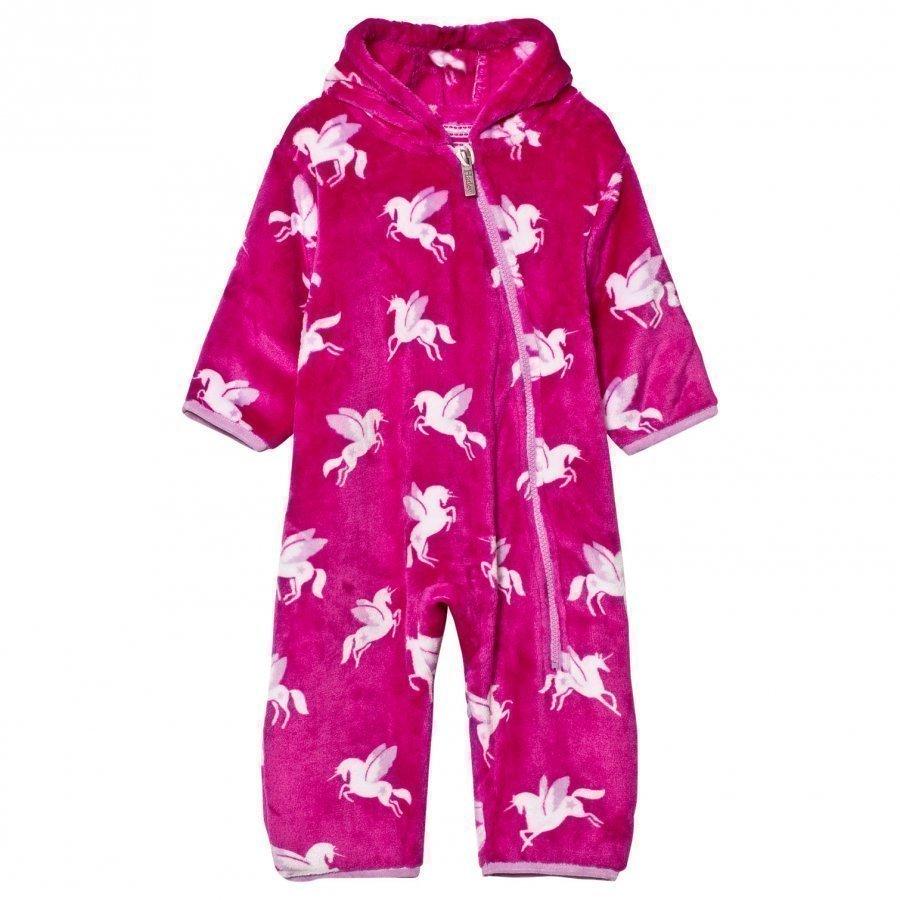 Hatley Pink Unicorn Fleece Onesie Vauvan Haalari