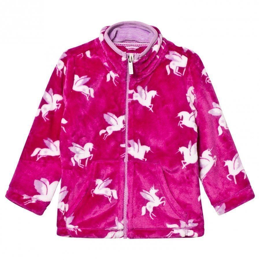 Hatley Pink Unicorn Print Fleece Sweater Fleece Takki