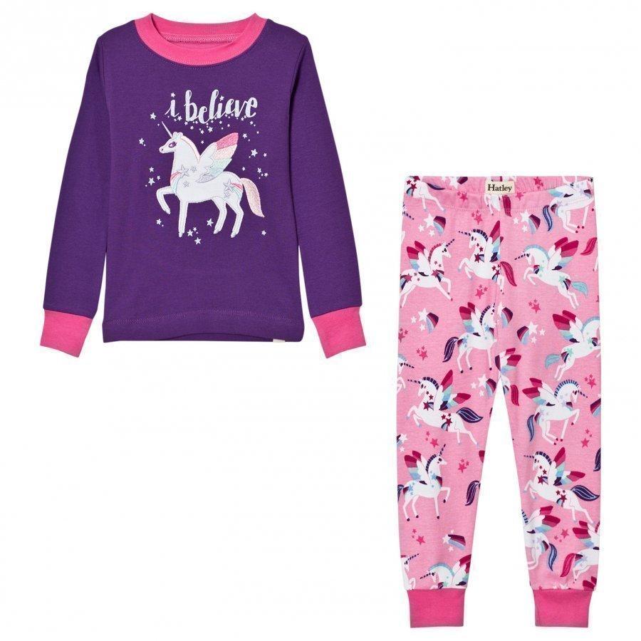 Hatley Purple Unicorn Print Pyjamas Yöpuku