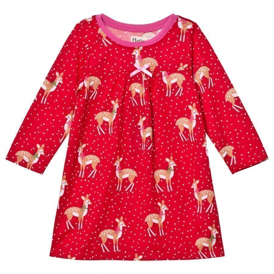 Hatley Red Deer Print Nightdress Yöpuku