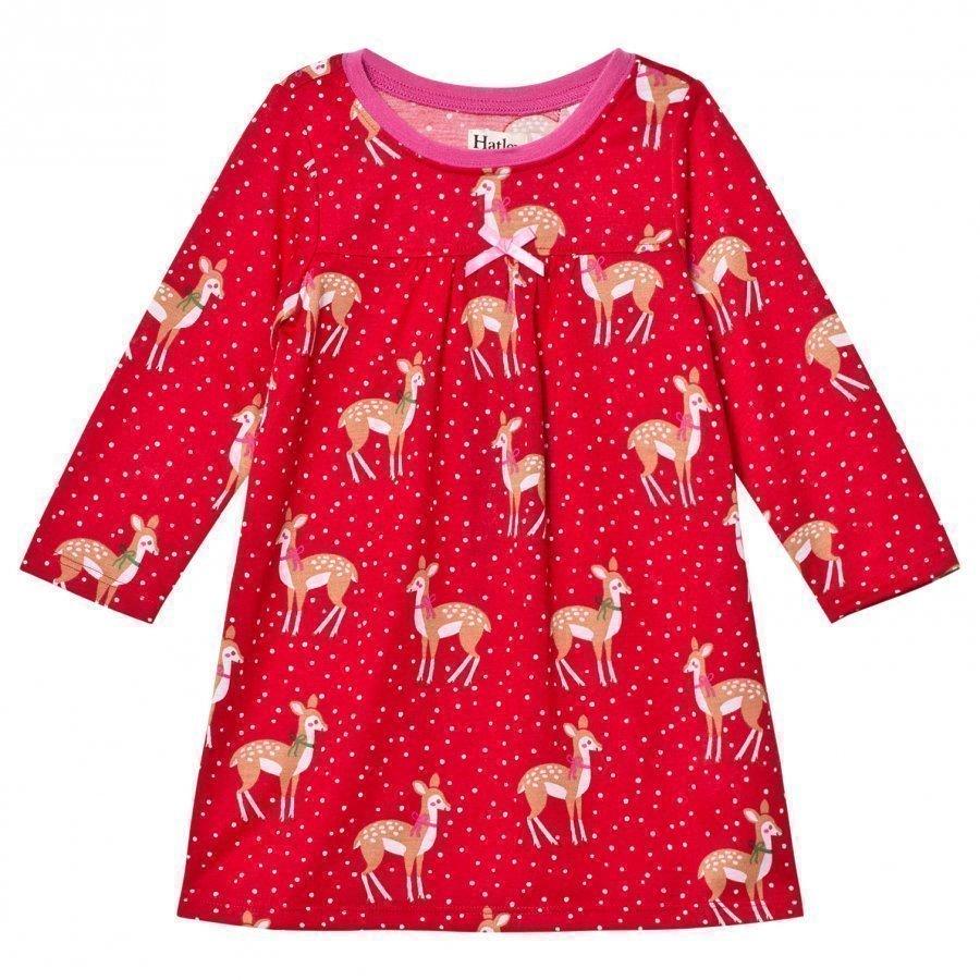 Hatley Red Deer Print Nightdress Yöpuku