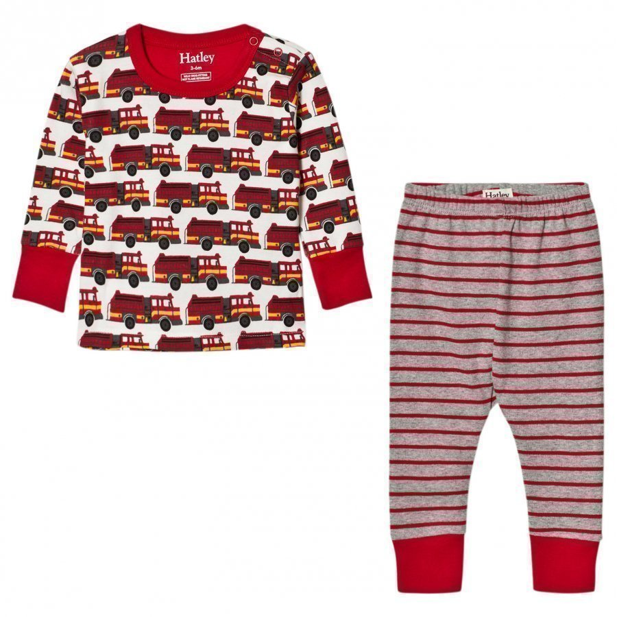Hatley Red Firetruck Print Pyjamas Yöpuku