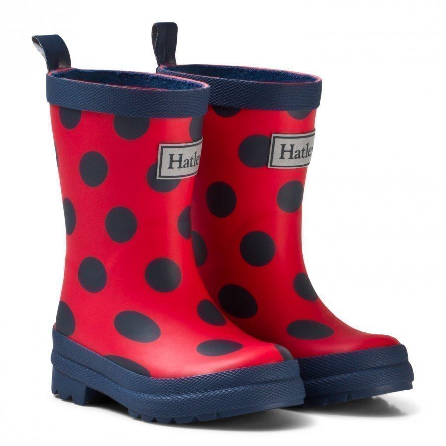 Hatley Red Polka Dot Classic Rain Boots Kumisaappaat