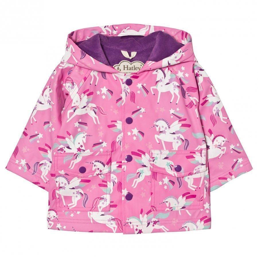 Hatley Unicorn Print Raincoat Pink Sadetakki