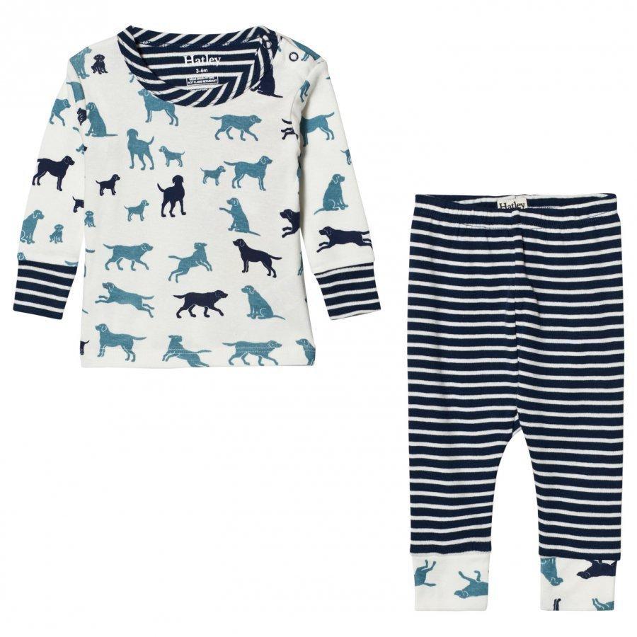 Hatley White Labrador Print Pyjamas Yöpuku