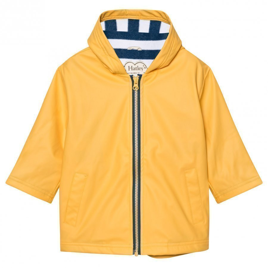 Hatley Yellow Fleece Lined Raincoat Sadetakki