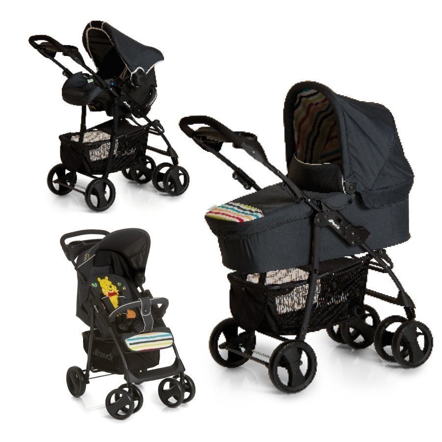 Hauck Travel System Shopper Slx Trioset Pooh Tidy Time