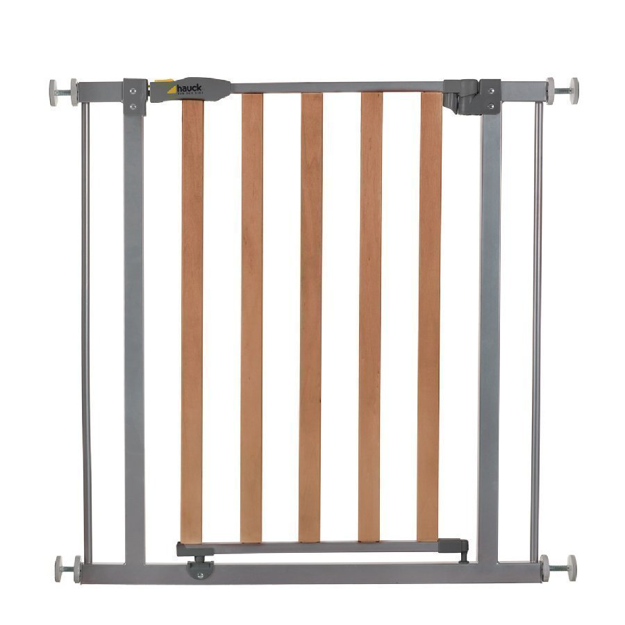 Hauck Turvaportti Oviin Wood Lock Safety Gate Silver