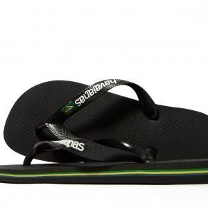 Havaianas Brasil Logo Sandaalit Musta